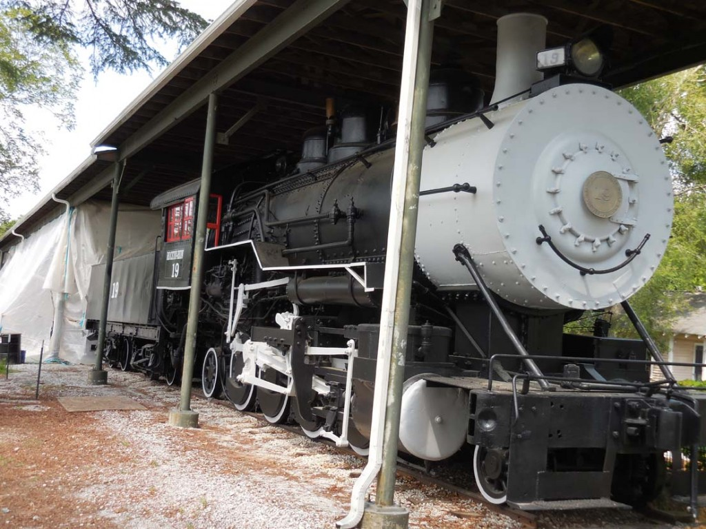 The restored Baldwin Steam Locomotive