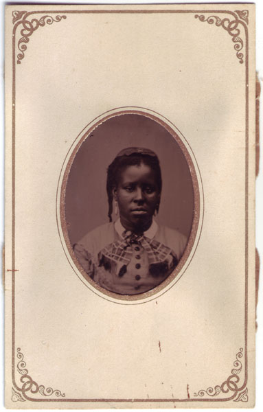 Clio, formerly enslaved girl at Sully plantation (freed in 1862), 1865. Alexander Haight Family collection C0159, Box 3, Folder 2 Special Collections Research Center George Mason University Libraries. (public domain)