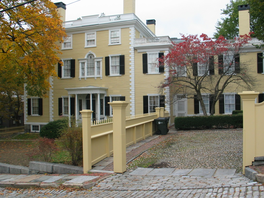 This Georgian mansion was the home of early 19th century shipping magnate Sullivan Door, father of Thomas Wilson Dorr who led the Dorr Rebellion in 1842.