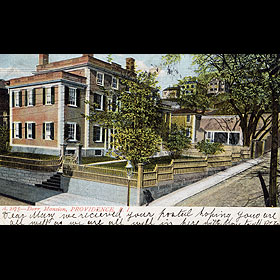 A historic view of the house from Brown University.