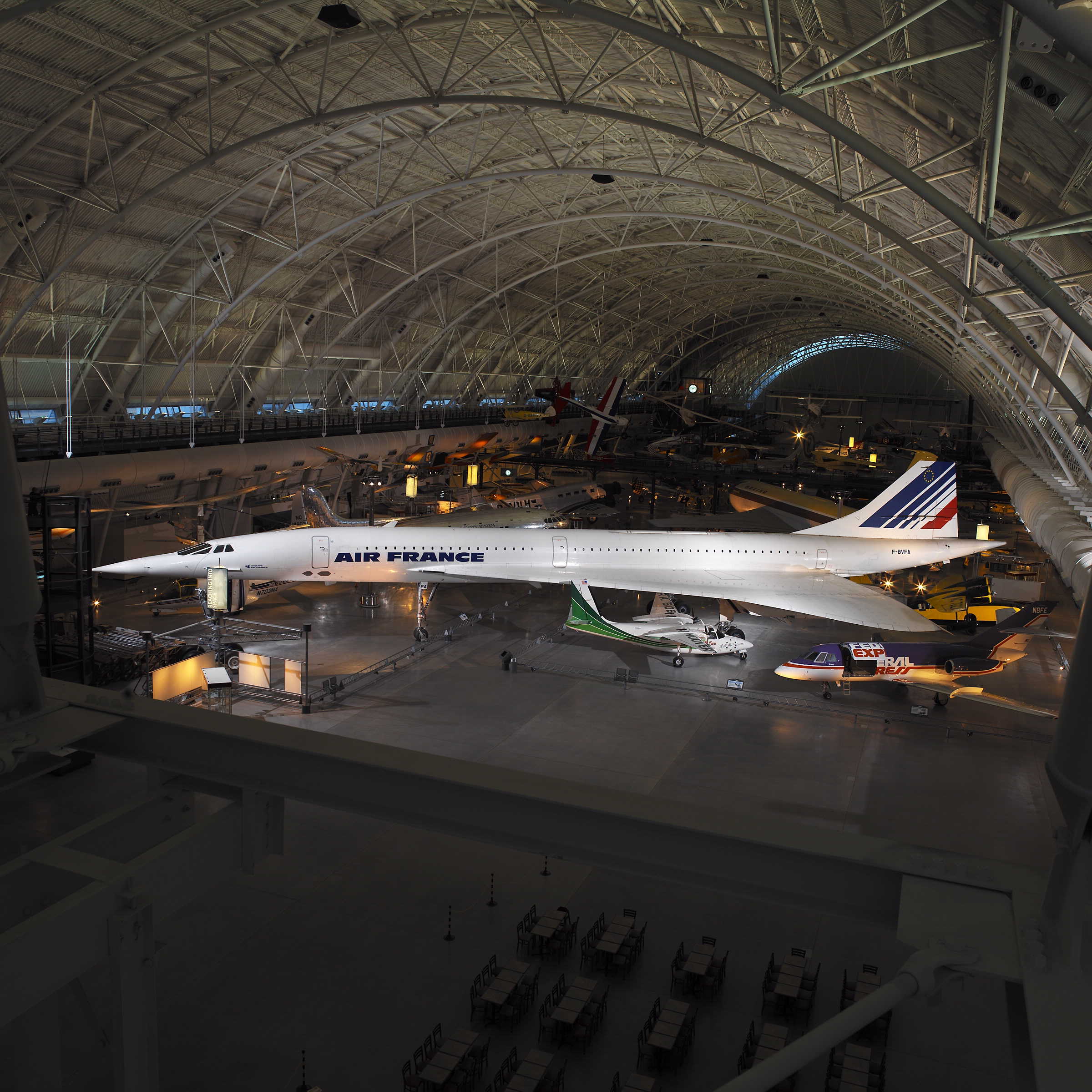 Concorde at the Udvar-Hazy Center. National Air and Space Museum, Smithsonian Institution.