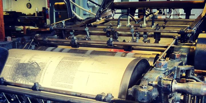 Some of the presses (image from the National Park Service, Presidio)