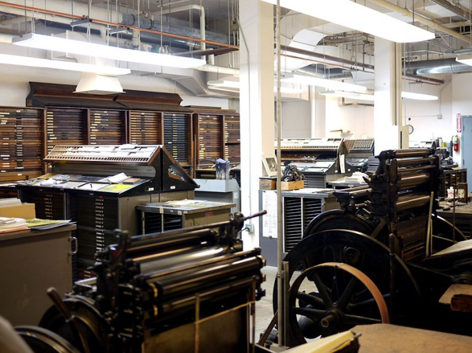 In the printing area (image from Tofufu Studios blog)