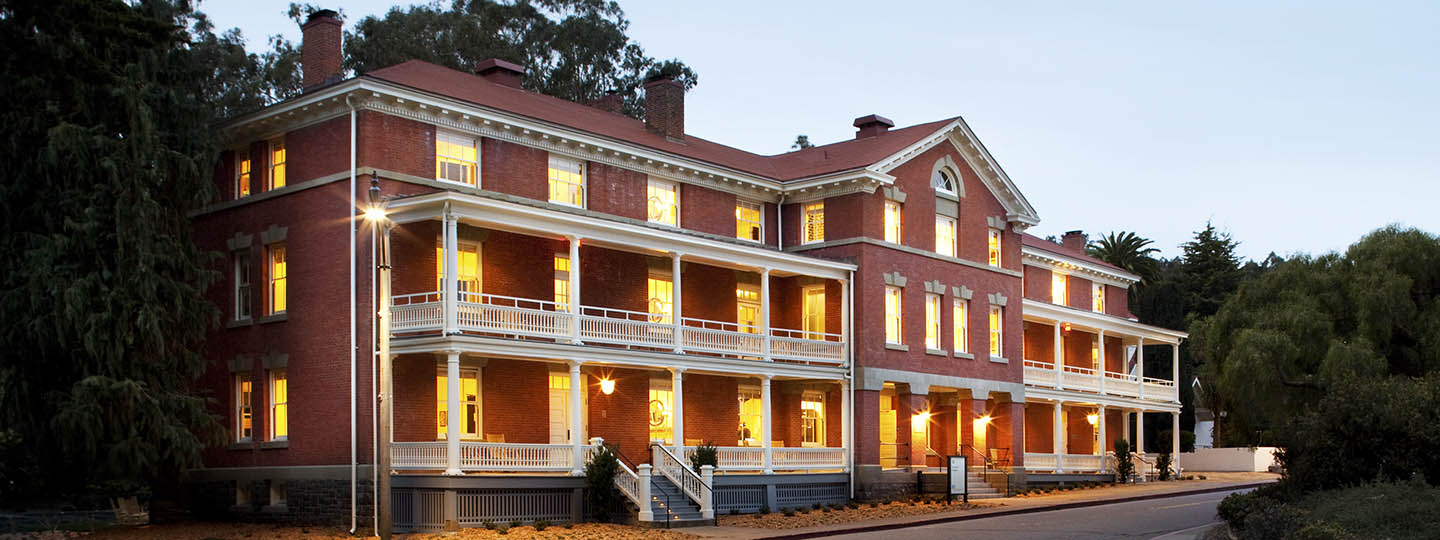 Inn at the Presidio, the former U.S. Army Bachelor Officer's Quarters known as Perishing Hall, building 42 (image from Inn at the Presidio)
