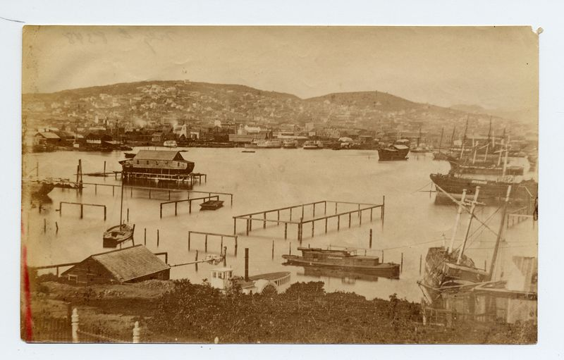 Panorama of San Francisco Bay, 1853 (image from the collections of the Society of California Pioneers)