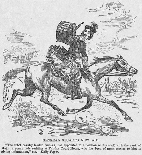 Illustration in Harper's Weekly regarding Antonia Ford (April 4, 1863)