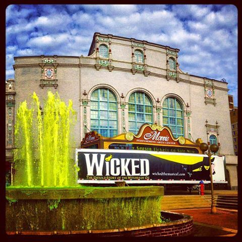 Obviously Wicked is playing, but why the green water?