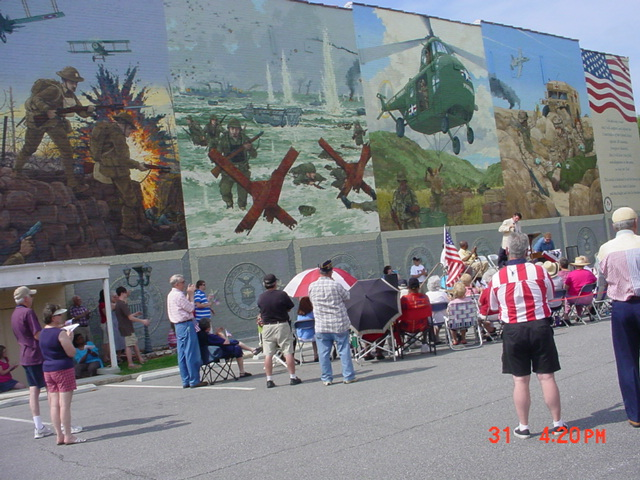 The Mural on the side wall of the Colonial Theater dedicated Memorial Day 2010.