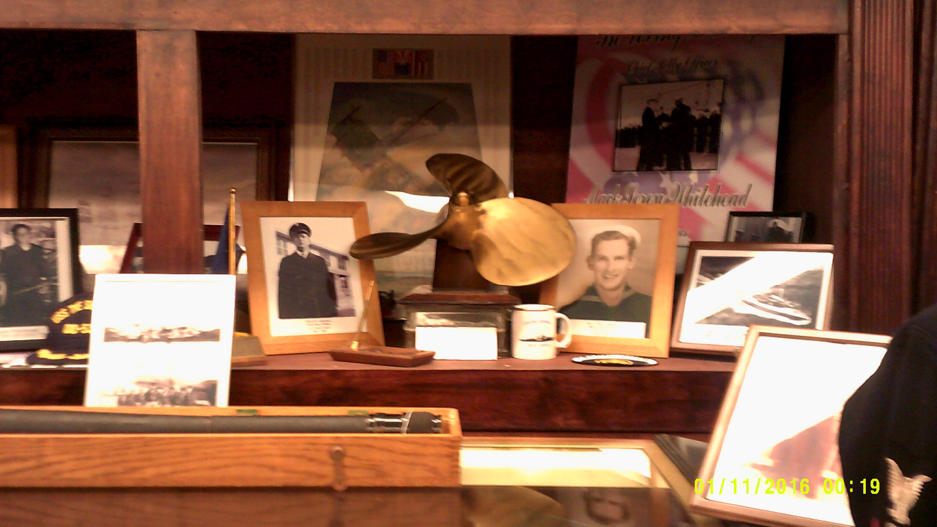 A display of nautical memorabilia.