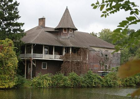 Historic Cascadilla school boathouse