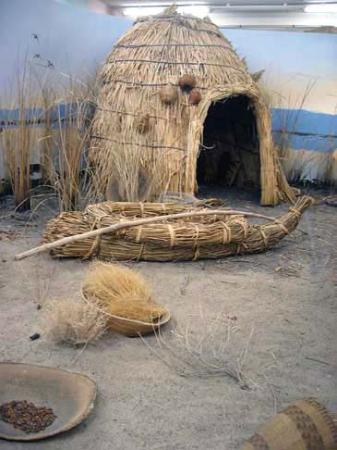 One of the Native American exhibits