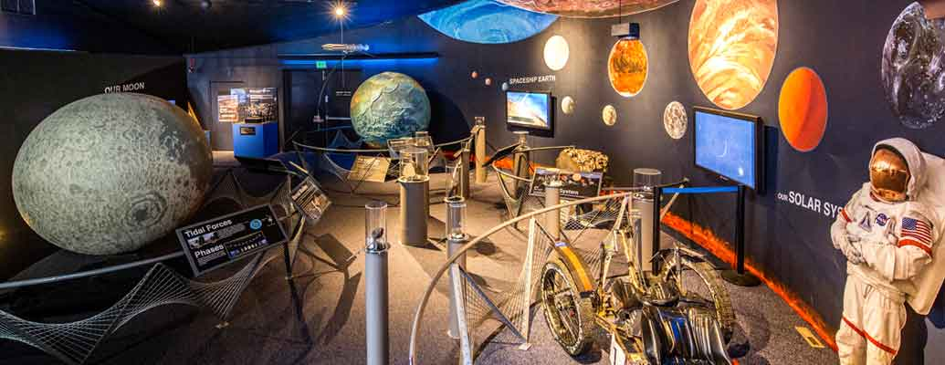The museum features many interactive exhibits.