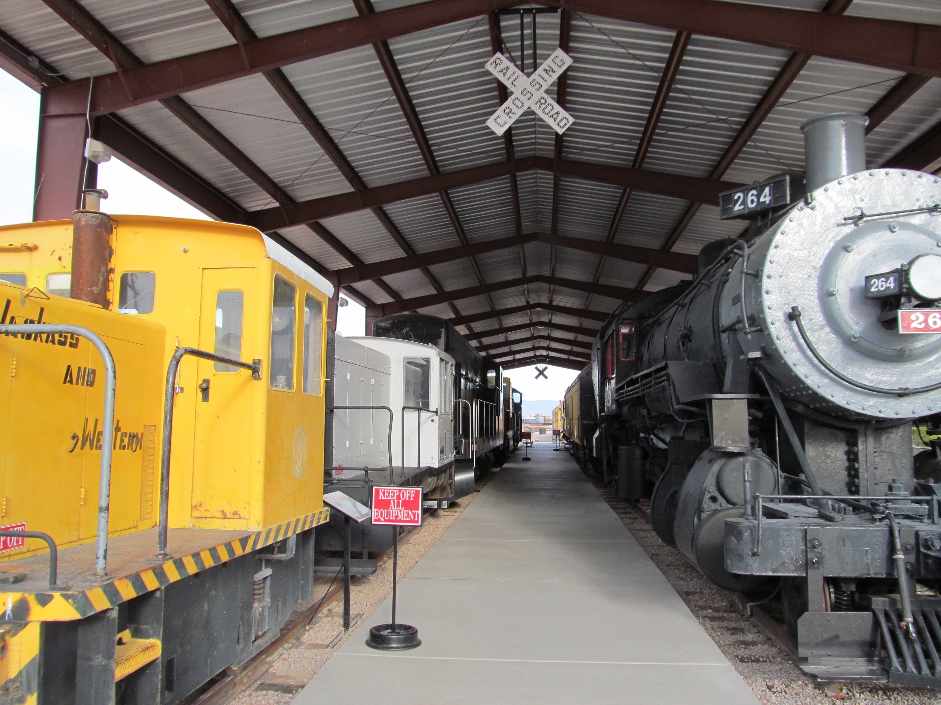 A look at some of the rolling stock on display
