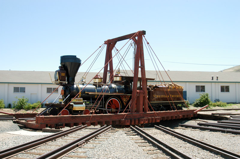 Tthis turntable is used to take trains on and off the track that goes around the museum