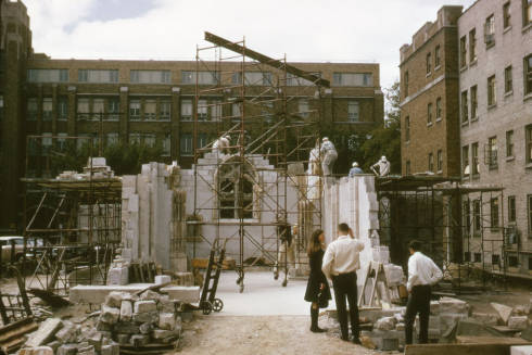 St. Joan of Arc during its reconstruction in 1966
