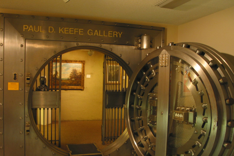 The one-of-a-kind gallery housed in a bank vault.
