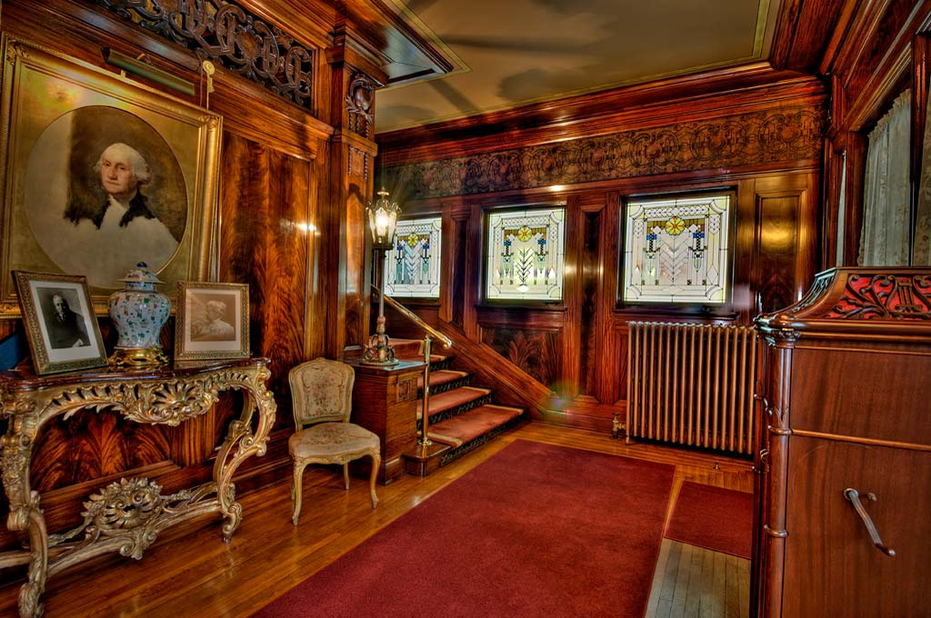 The home's grand entry hall