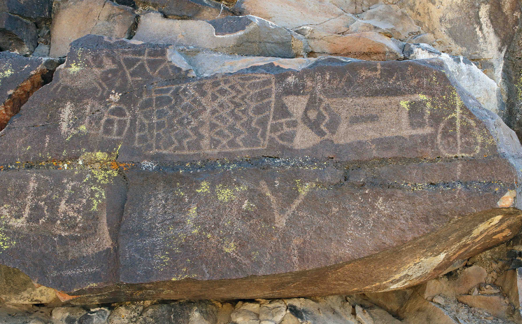 Some of the petroglyphs