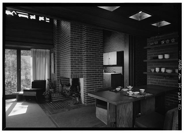 General view of the interior, Historic American Buildings Survey