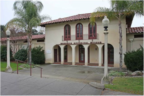 The museum opened in the 1980s and is located in Spanish-style mission building constructed in 1925 and served as a community building and provided changing rooms for the city's municipal pool.