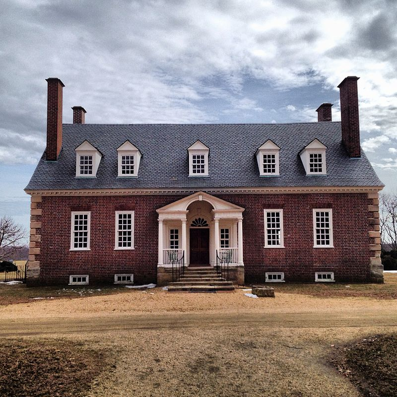 Gunston Hall, Founding Father George Mason's home in Fairfax County by Justin A. Wilcox on Wikimedia Commona (CC BY-SA 3.0)