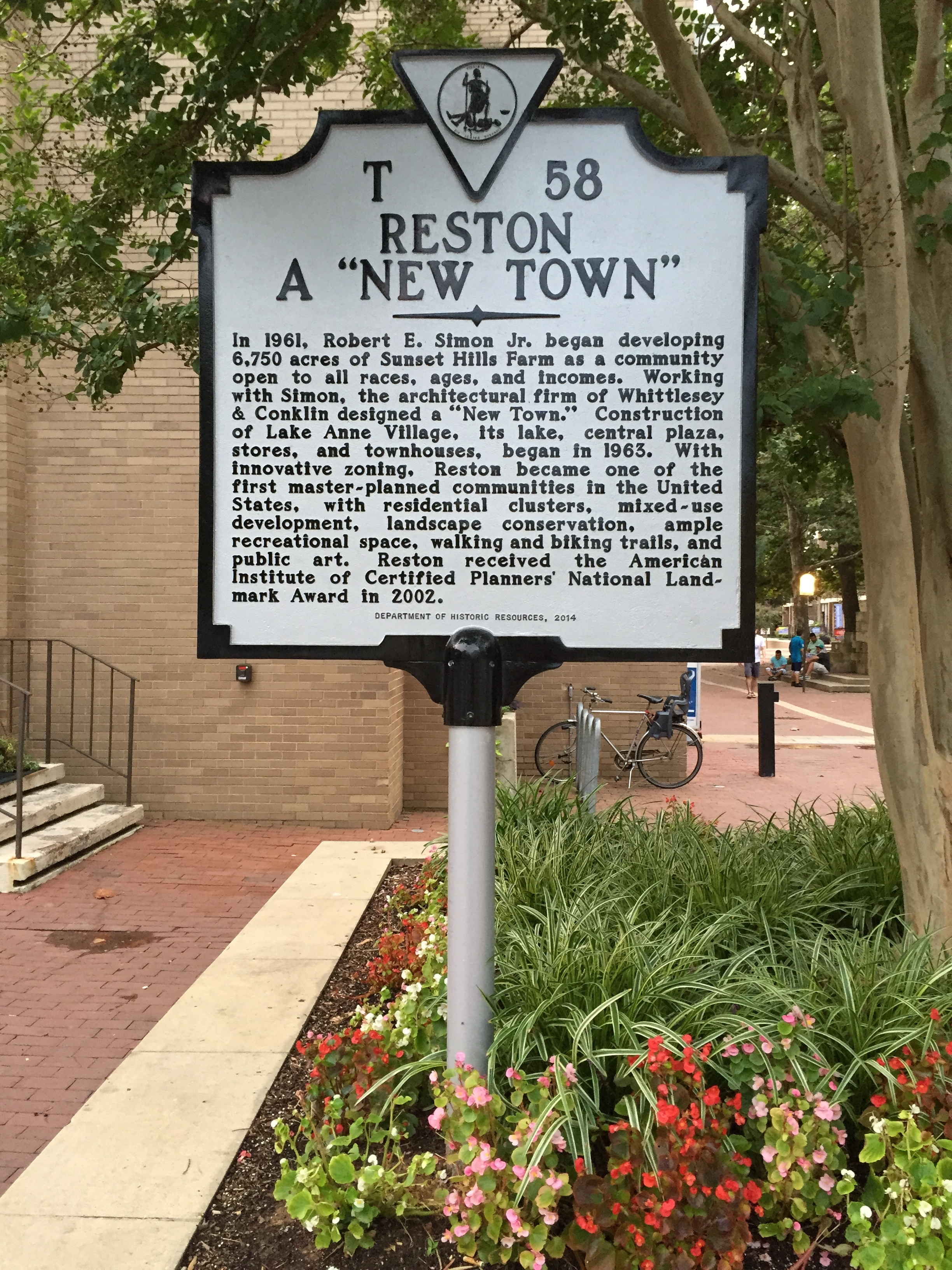 Reston Historical Marker
