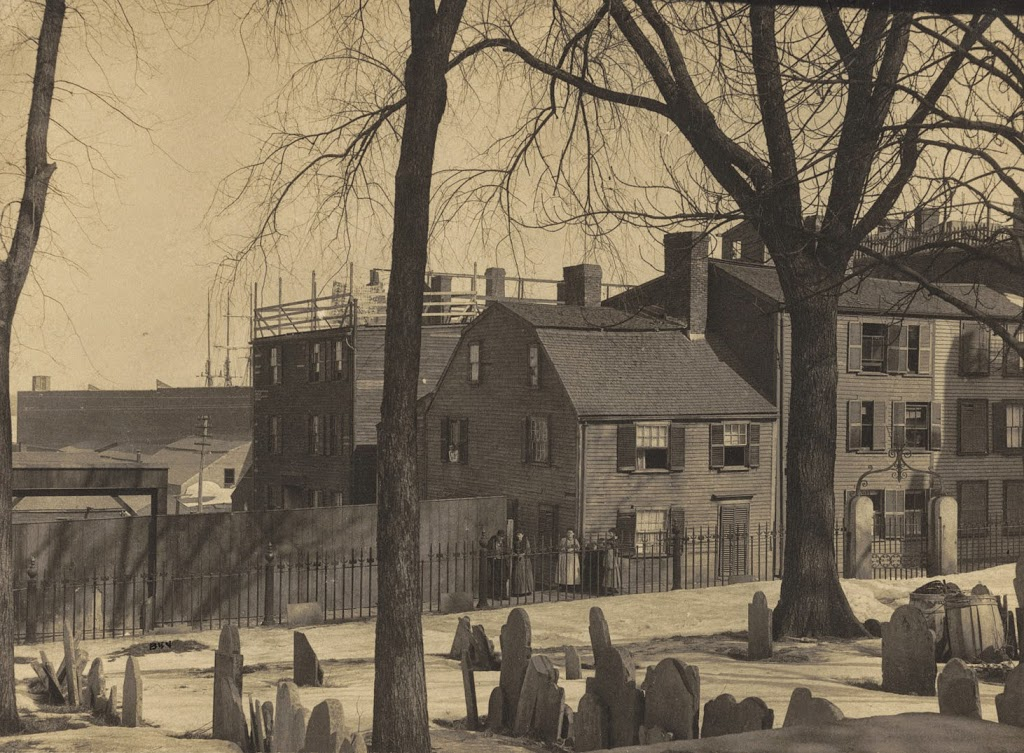 Copp's Hill Burying Ground in the 1890s (image from the Boston Public Library)