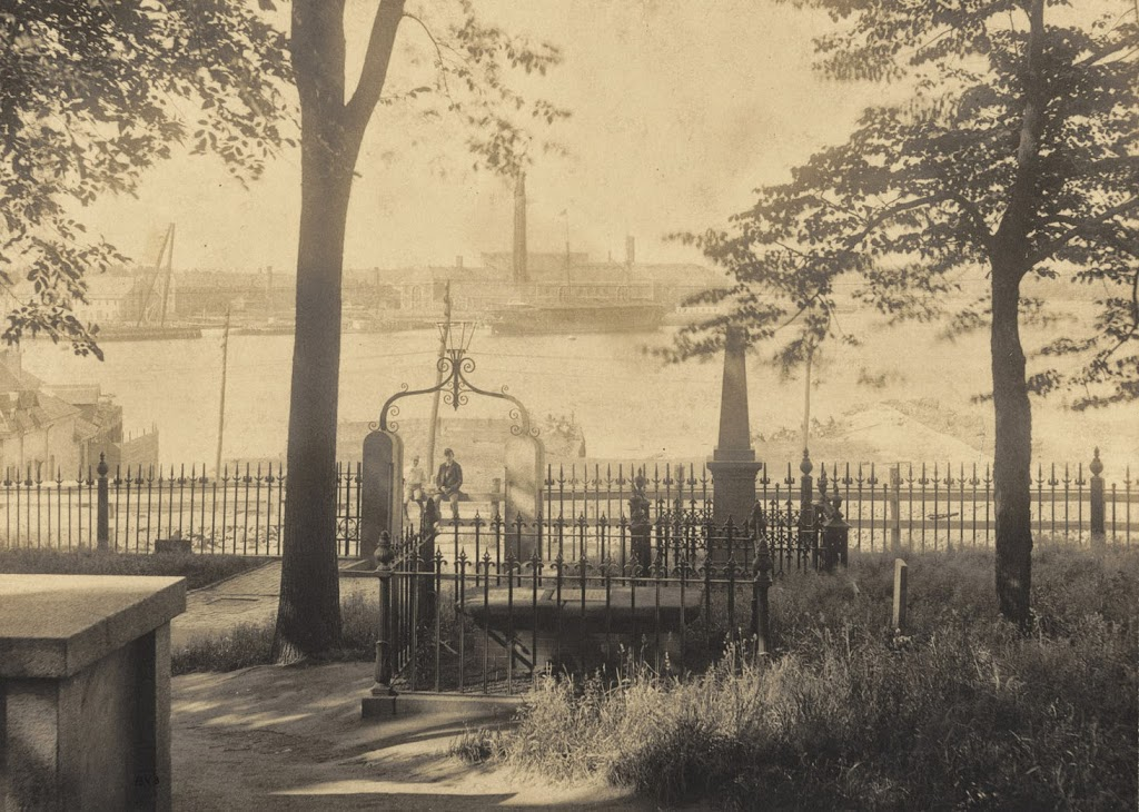View of Boston Harbor from Copp's Hill in 1898 (image from the Boston Public Library)