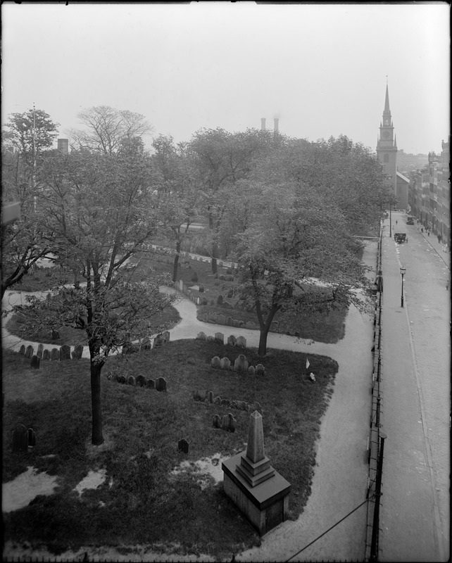 Copp's Hill Burying Ground and Old North Christ Church, Hull Street and Salem Street, Boston (image from Digital Commons)