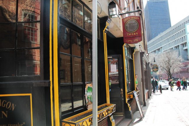 The current Green Dragon Tavern of Boston (image from Somers Pubs)