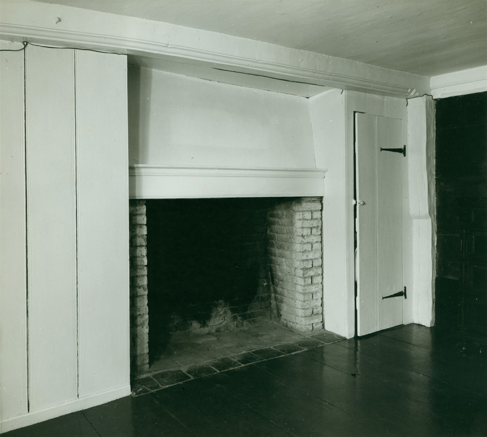 One of the fireplaces inside the house (image from Historic New England)