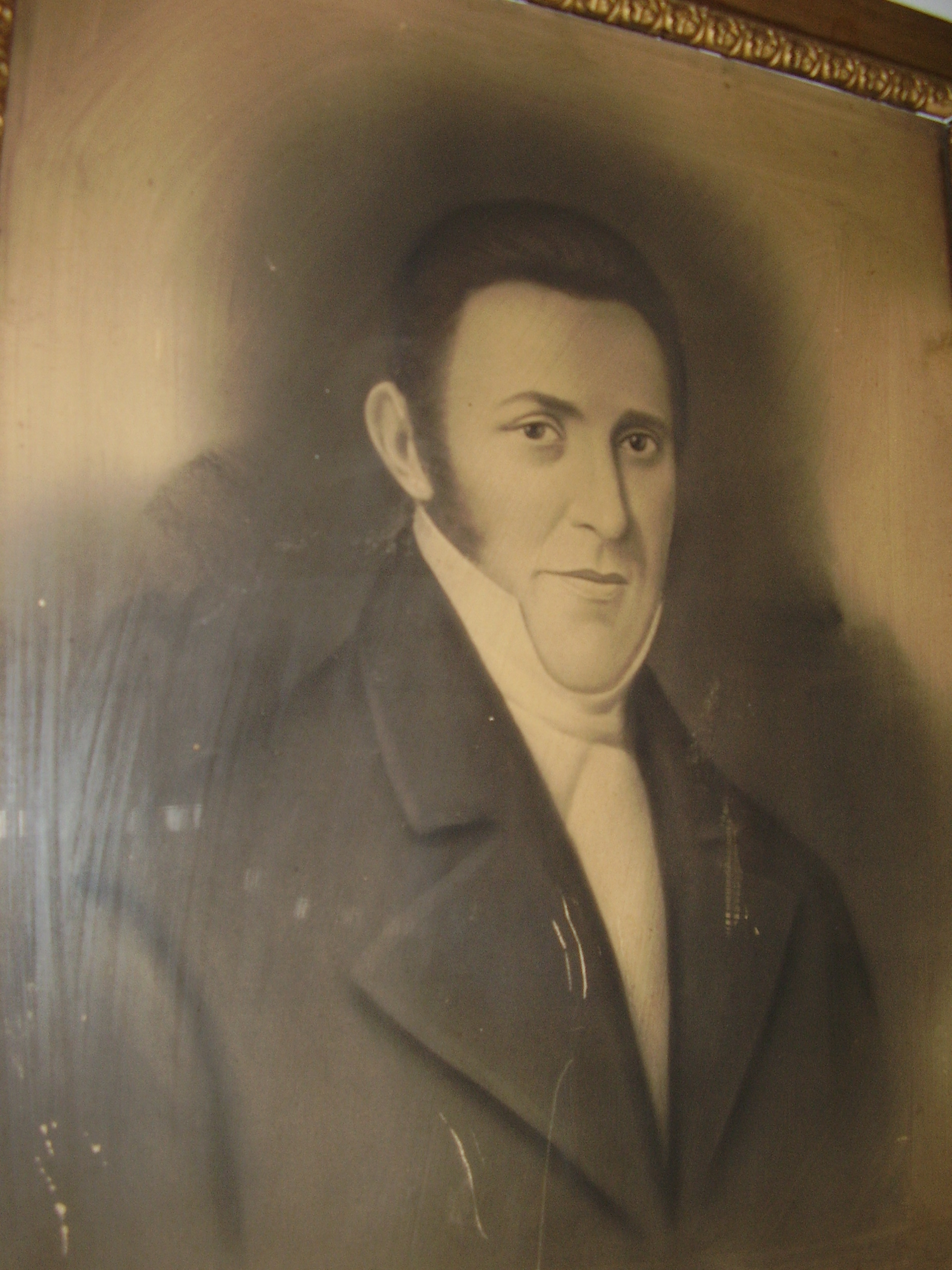 Early portrait of Louis Wilson, who lived in the house from 1830 until his death in Mexico in 1847.  Neighboring Wilson county was created in his memory by the North Carolina General Assembly.