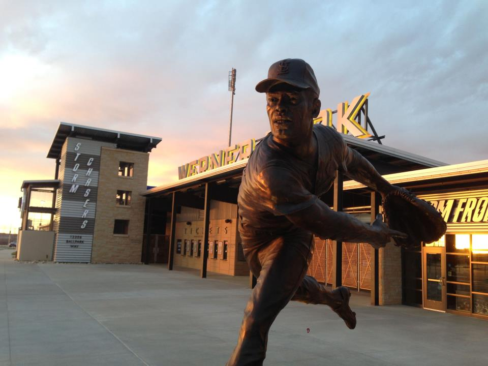 Bob Gibson's statue was dedicated in April, 2013.