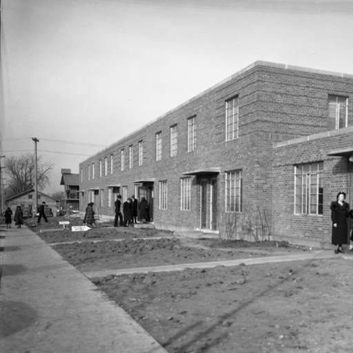 A 1938 photo of the housing project following the completion of its first phase.
