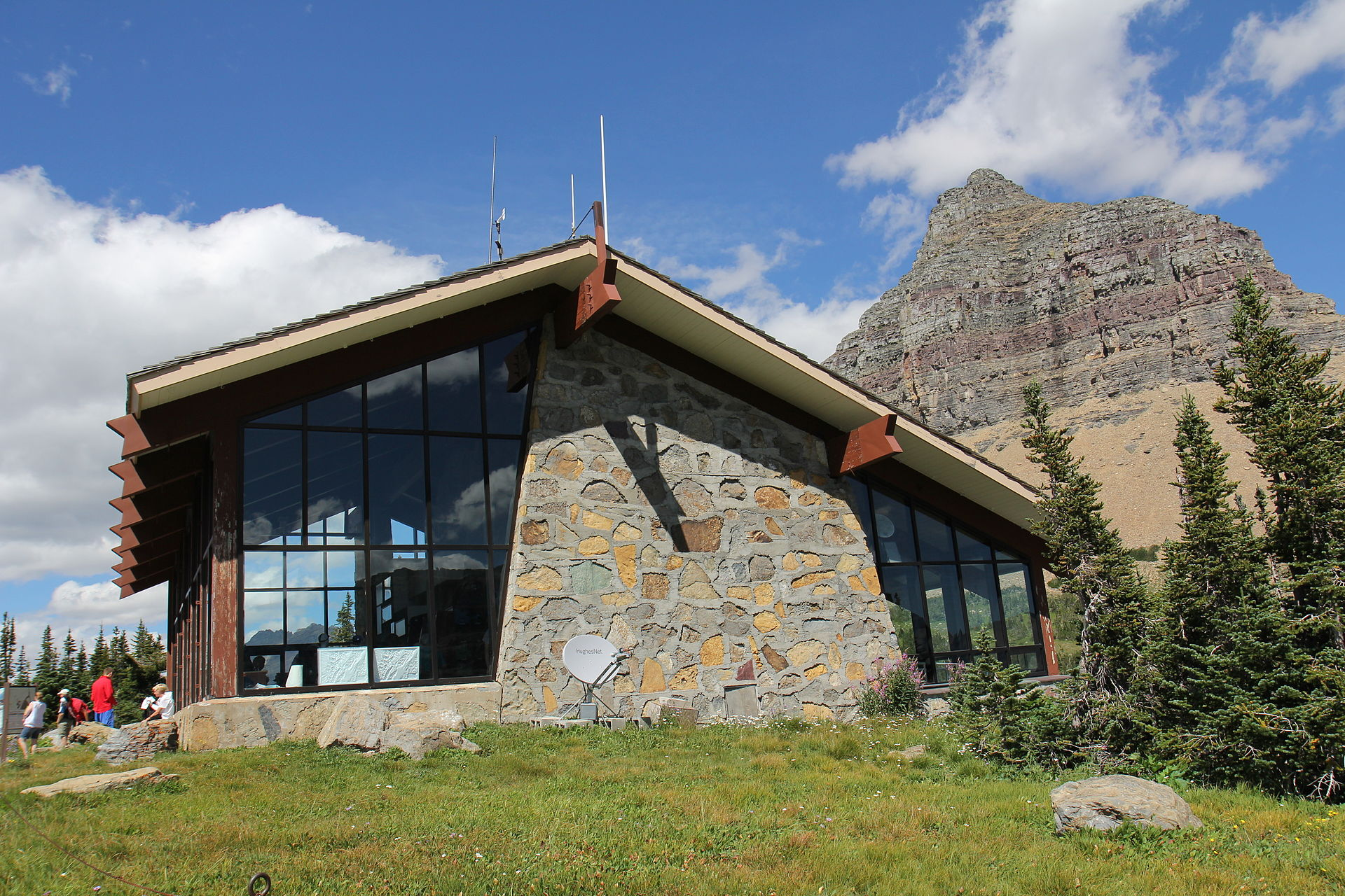 Built in 1966, the Logan Pass Center is the busiest of the three visitor centers at Glacier National Park.
