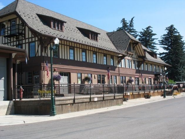 The former Whitefish Railway Depot