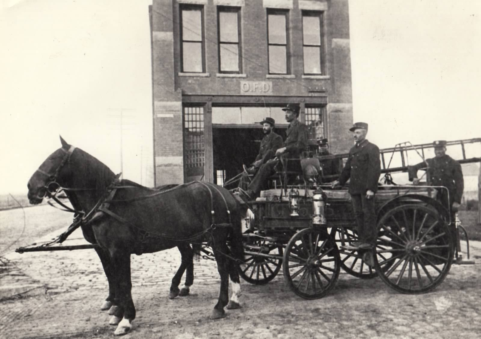 The first five black firefighters in Omaha.  Source:  Great Plains Black History Museum