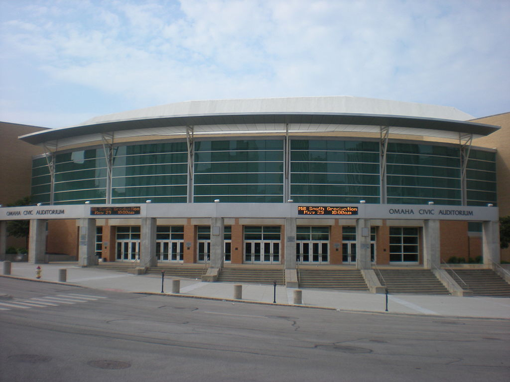 Omaha's Civic Auditorium shortly before its demolition in 2016