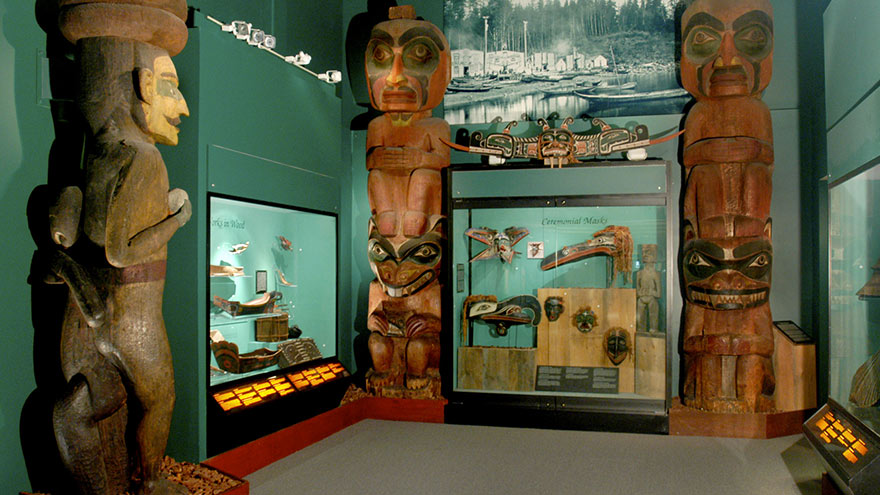 Hall of the North American Indian, ongoing exhibit at the Peabody Museum (image from Harvard University)