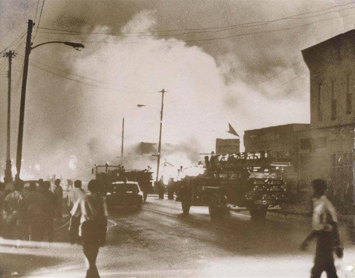 During 1960s race riots, many vacant buildings in the Near North Omaha neighborhood were burned to the ground in protest using a variety of firebombs.