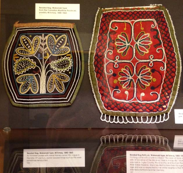 Native American Beadwork on display.
