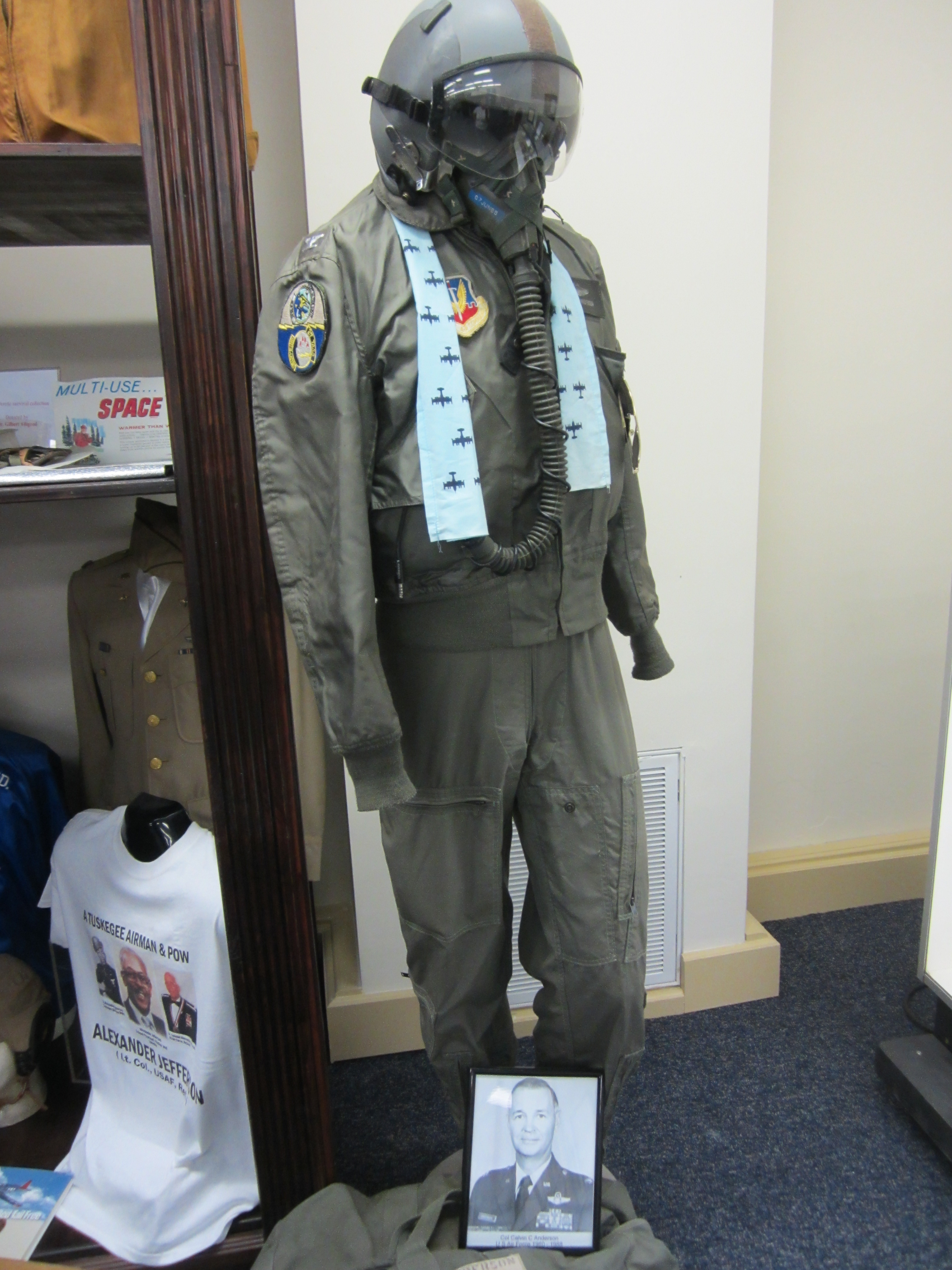 Col. Calvin Anderson's Vietnam Era flight suit.