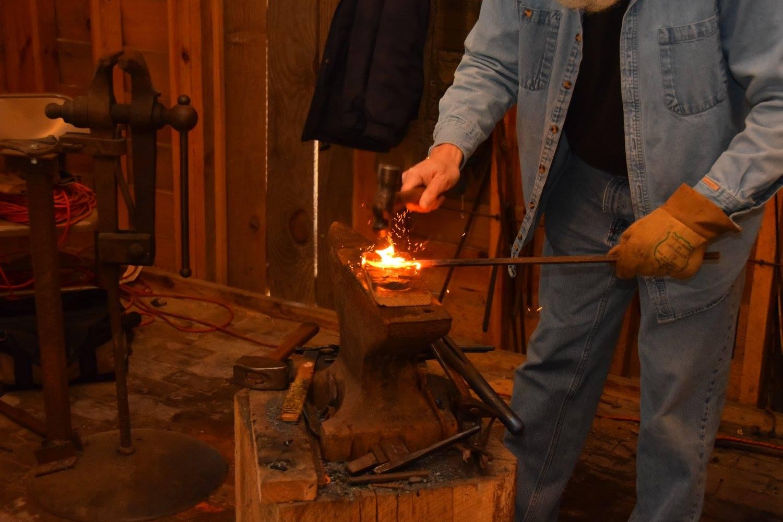 Blacksmith demonstration.