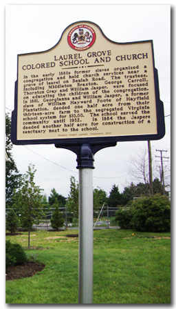 Laurel Grove School's historical marker