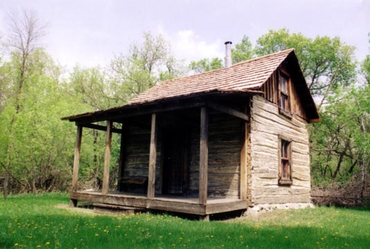 A reconstructed pioneer home