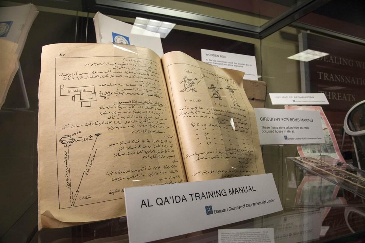 Al Qa'ida Training Manual at the Museum