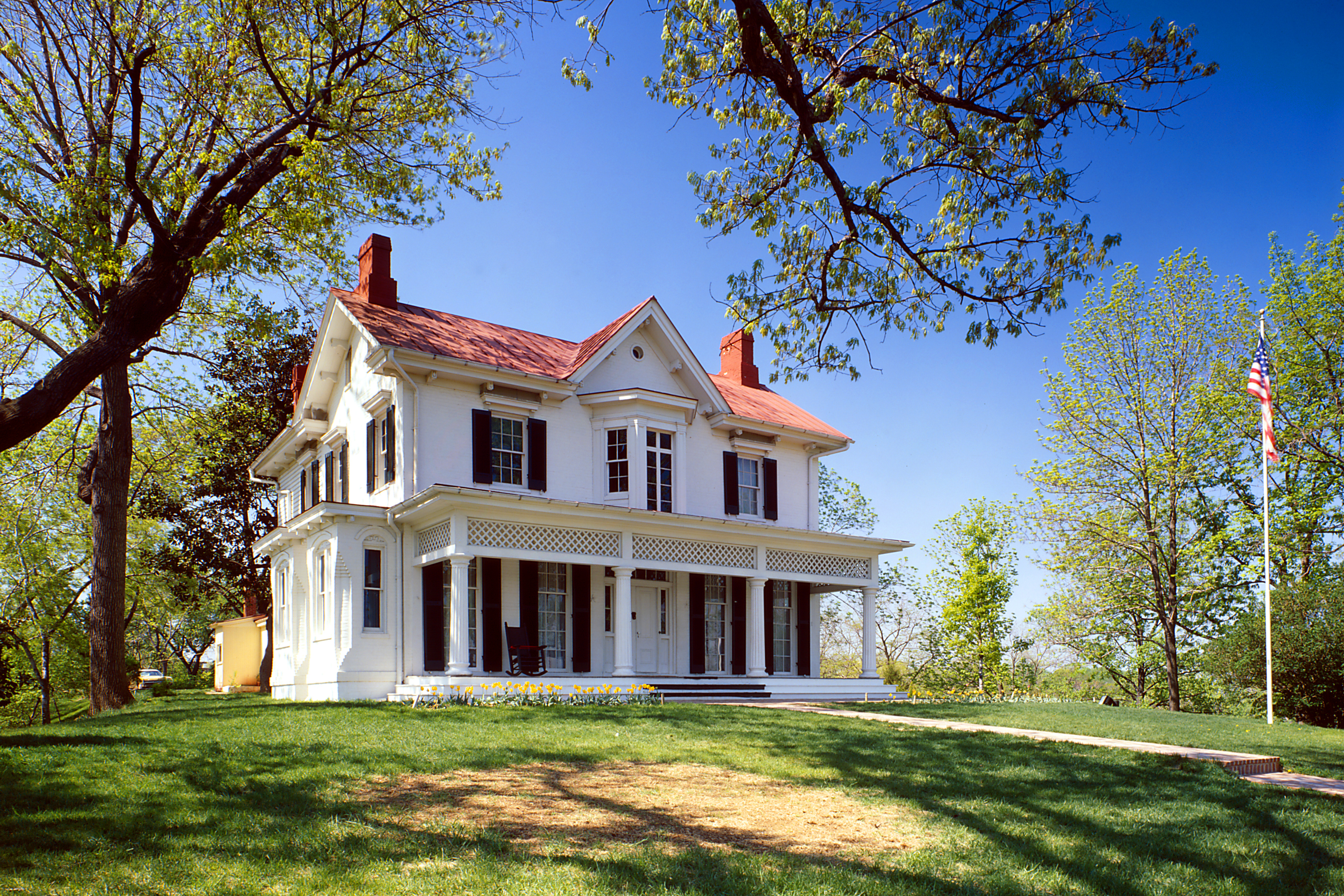 Originally bought by John Van Hook in 1855, Douglass named the home Cedar Hill and lived here from 1877 to his death in 1895.