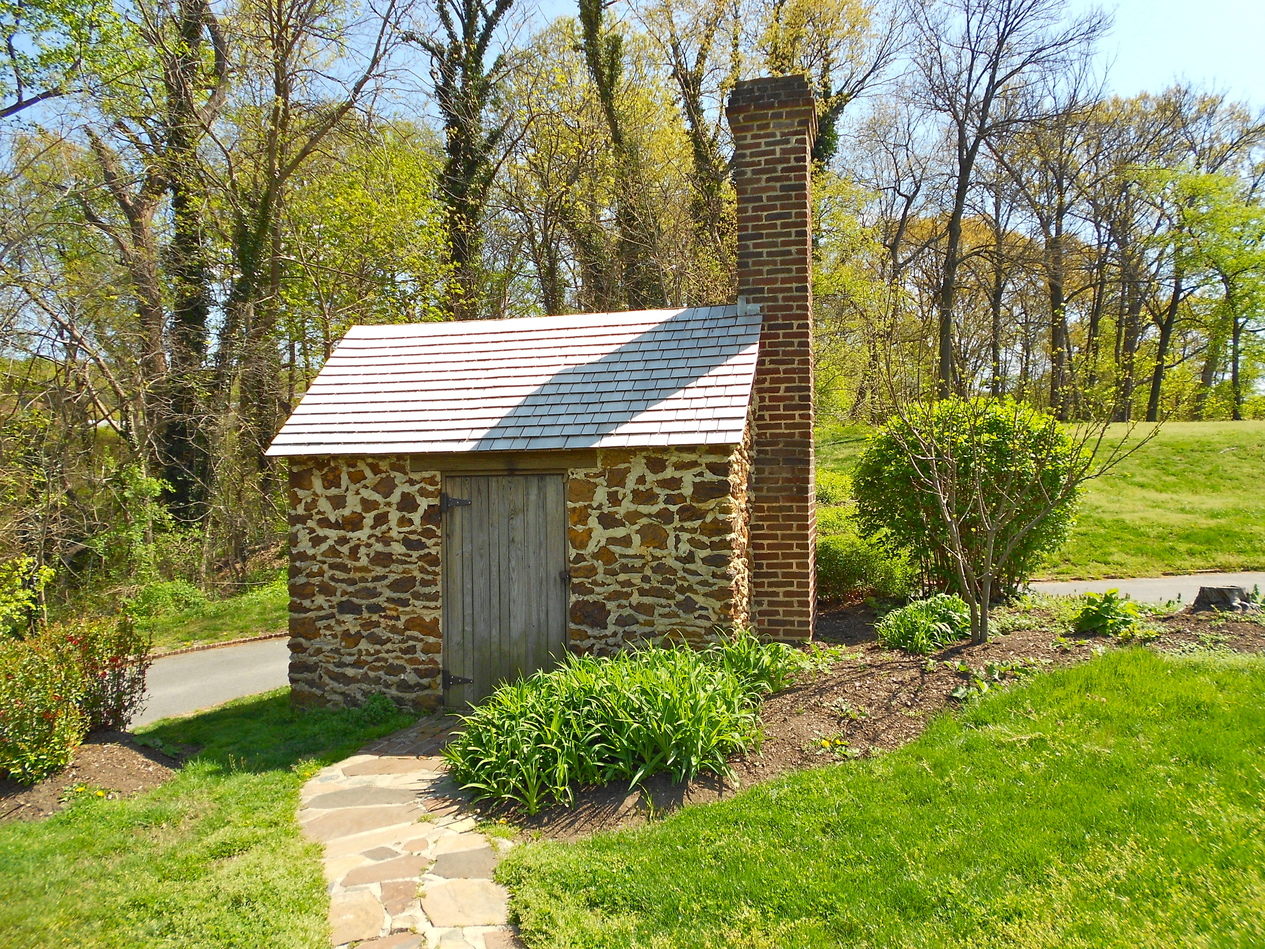 """The reconstructed """"Growlery"""" where Douglass worked at his writing."""