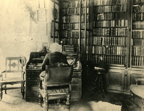 Frederick Douglass in His Study at Cedar Hill. Source: Frederick Douglass National Historic Site, National Park Service