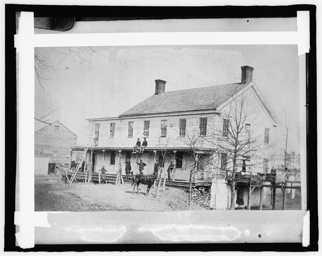 The Freeman House in 1860, Library of Congress (public domain).
